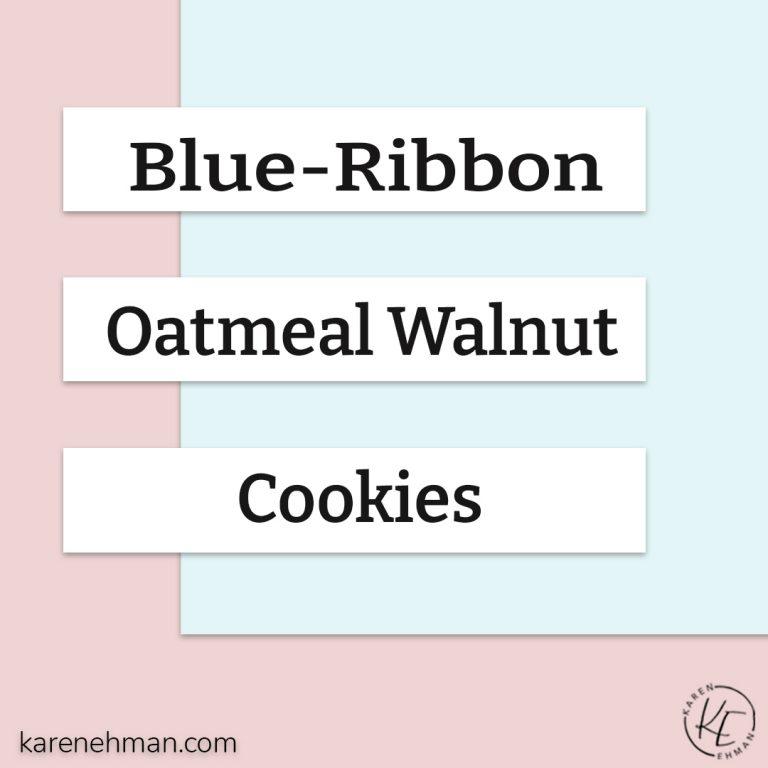 Grandma Gig's Oatmeal Walnut Cookies circa 1952