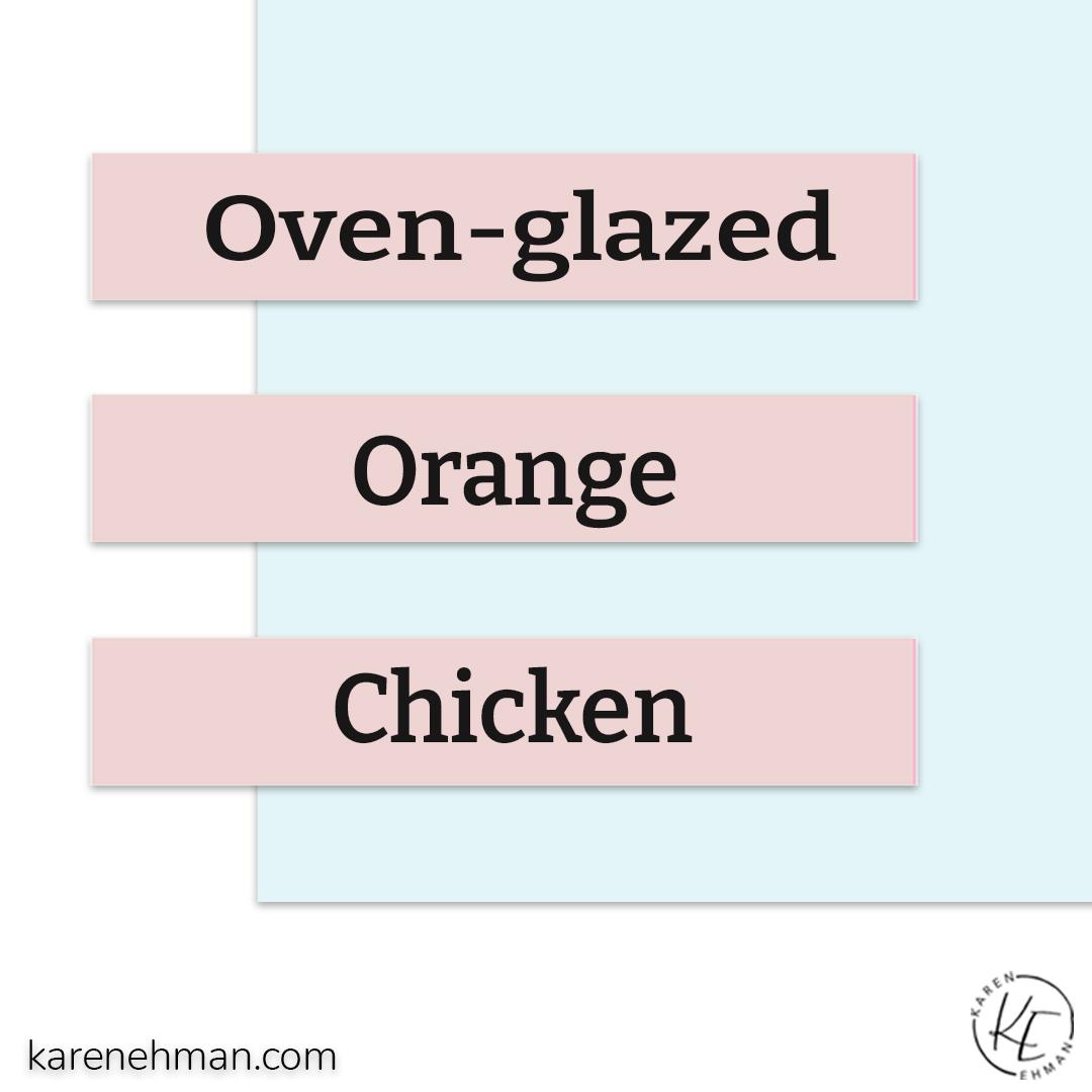 Oven-glazed Orange Chicken